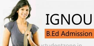 Ignou B.Ed admission in January session