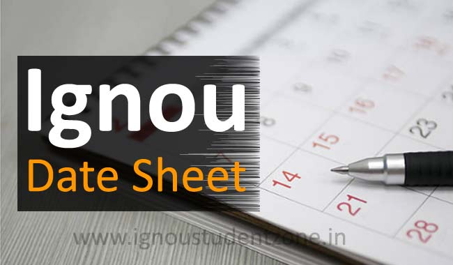 Download Ignou Date Sheet