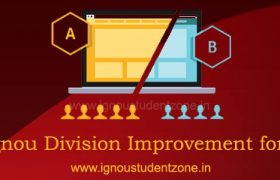 Ignou division improvement form or ignou class improvement form