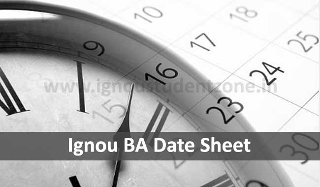 Download Ignou BA Date Sheet Online
