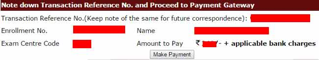 ignou exam fee payment transaction details