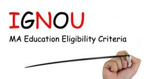 Ignou MA Education Eligibility Criteria
