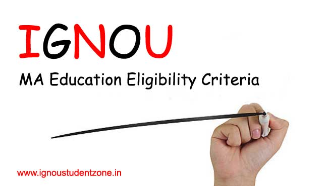 Ignou MA Education Eligibility Criteria