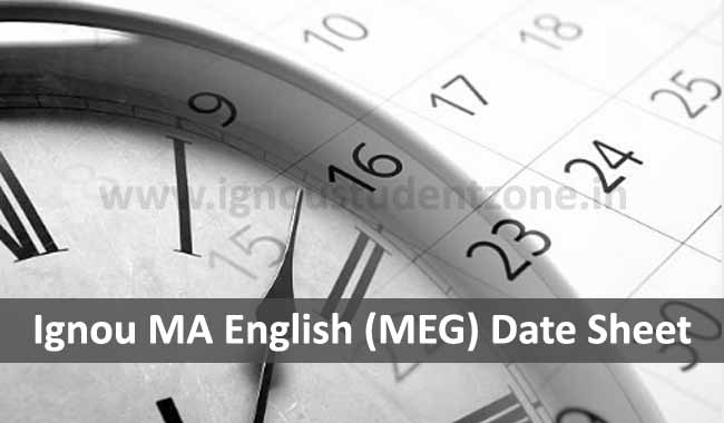 Download Ignou MA English Date Sheet Online