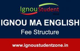 Ignou MA English fee structure