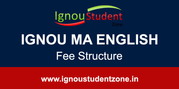 Ignou MA English fee structure