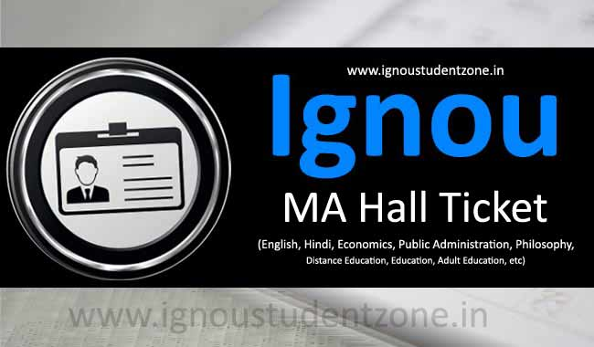 Download Ignou MA Hall Ticket Online