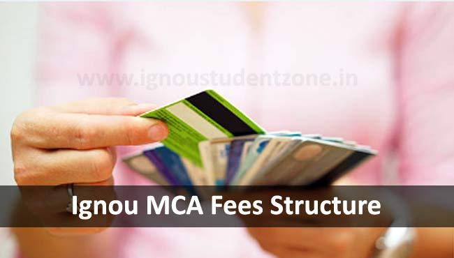 Ignou MCA admission fees
