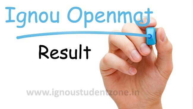 Ignou OPENMAT Result Online