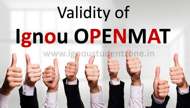 Validity of Ignou Openmat