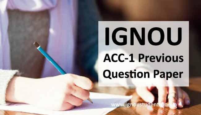 Ignou ACC 1 question paper