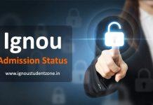Ignou admission status