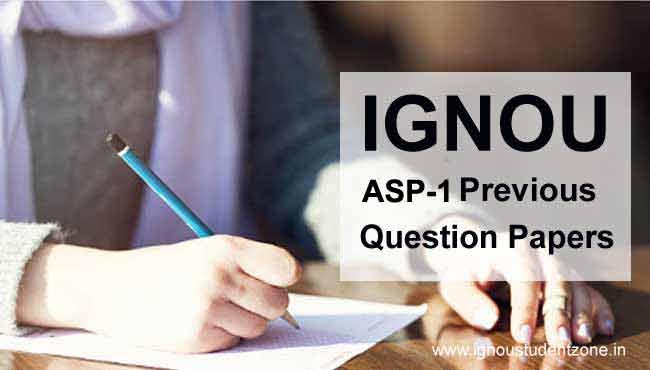Ignou asp 01 question paper