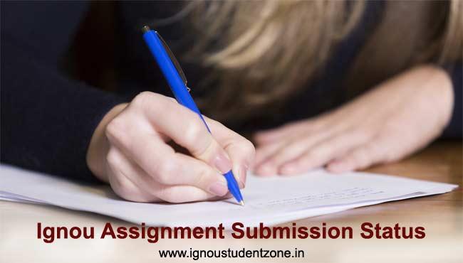 Ignou assignment submission status