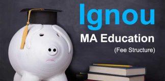 Ignou MA Education fee structure