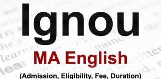 Ignou MA English Admission
