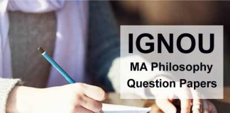 Ignou MA Philosophy Question Papers