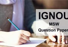 Ignou MSW question papers
