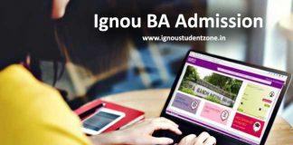 Ignou BA Admission 2017