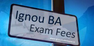 Ignou BA Exam fees