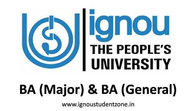 Ignou BA Major & Ignou BA General