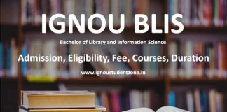 Ignou BLIS admission (Bachelor of Library and Information Science)