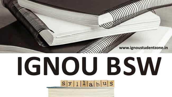 Ignou BSW Course Syllabus