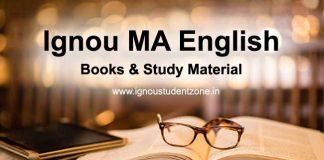 Ignou MA English books & Study Material