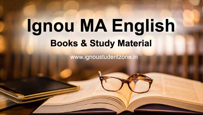 Ignou MA English books & Study Material