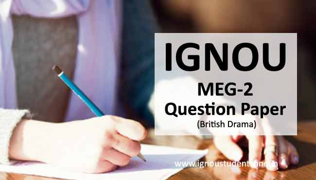 Ignou MEG 2 Question Papers