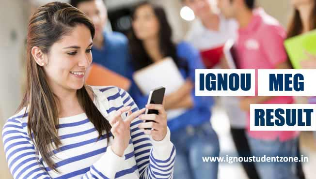 Ignou MEG result - MA English