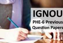 Ignou PHE 06 question paper