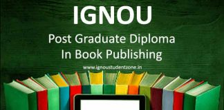 Ignou post graduate diploma in book publishing