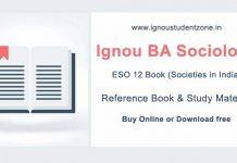 Ignou ESO 12 Book (BA Sociology)