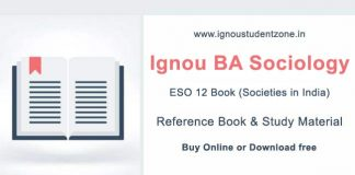 Ignou ESO 12 Book (BA Sociology)
