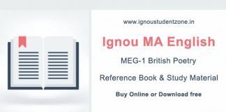 Ignou MEG 1 Book