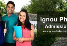 Ignou PhD admission July & Jan session