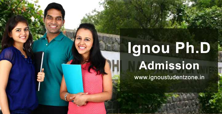 Ignou PhD admission July & Jan session