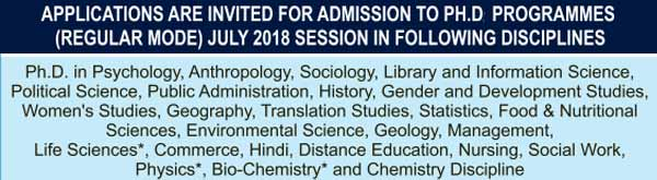 ignou phd programes admission july 2018