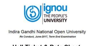 Ignou re-conduct exam June 2017