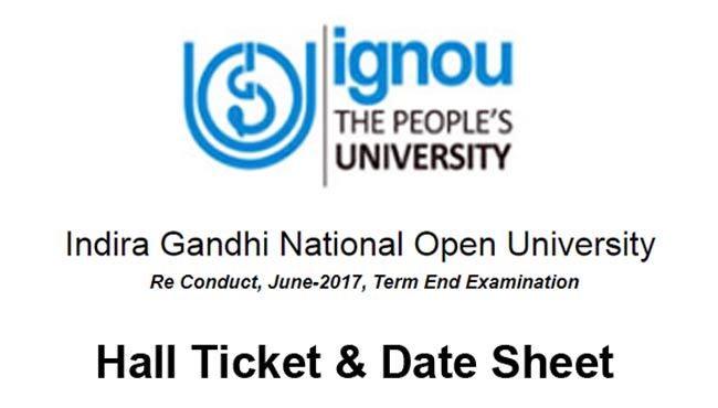 Ignou re-conduct exam June 2017