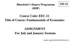 Ignou EEC 11 Assignment Download