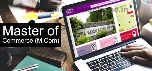 Ignou M.Com Online admission
