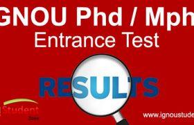 ignou phd, mphil entrance result