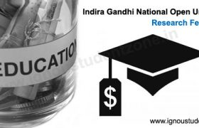 ignou scholarship for mphil/phd students