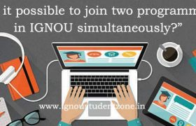 Can a student apply for two programs in IGNOU simultaneously?