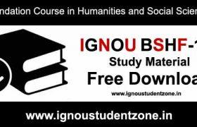 Ignou bshf 101 pdf free download study material