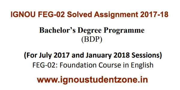 Ignou FEG 2 solved assignment 2017-18