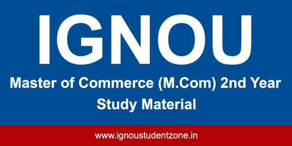 ignou M.Com books for 2nd year courses