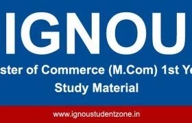 Ignou M.Com 1st year books free download